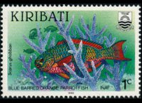 Kiribati 1990 - set Fishes: 1 c