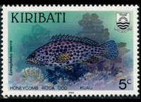 Kiribati 1990 - set Fishes: 5 c