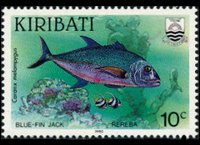 Kiribati 1990 - set Fishes: 10 c