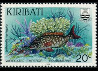 Kiribati 1990 - set Fishes: 20 c