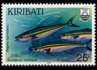 Kiribati 1990 - set Fishes: 25 c