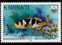 Kiribati 1990 - set Fishes: 30 c