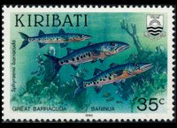 Kiribati 1990 - set Fishes: 35 c