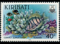 Kiribati 1990 - set Fishes: 40 c