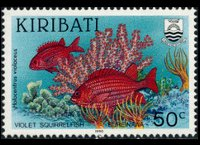 Kiribati 1990 - set Fishes: 50 c