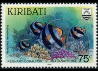 Kiribati 1990 - set Fishes: 75 c