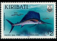 Kiribati 1990 - set Fishes: 2 $