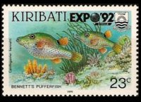 Kiribati 1990 - set Fishes: 23 c