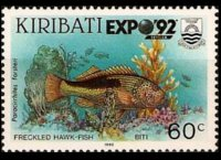 Kiribati 1990 - set Fishes: 60 c