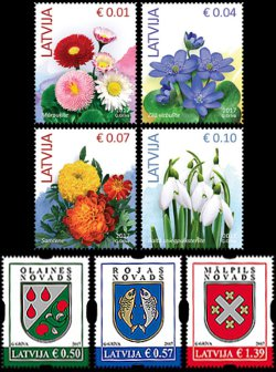 New stamps issued on January, 13